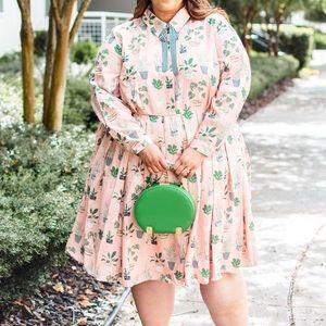 ELOQUII Pink Plant Dress size 14